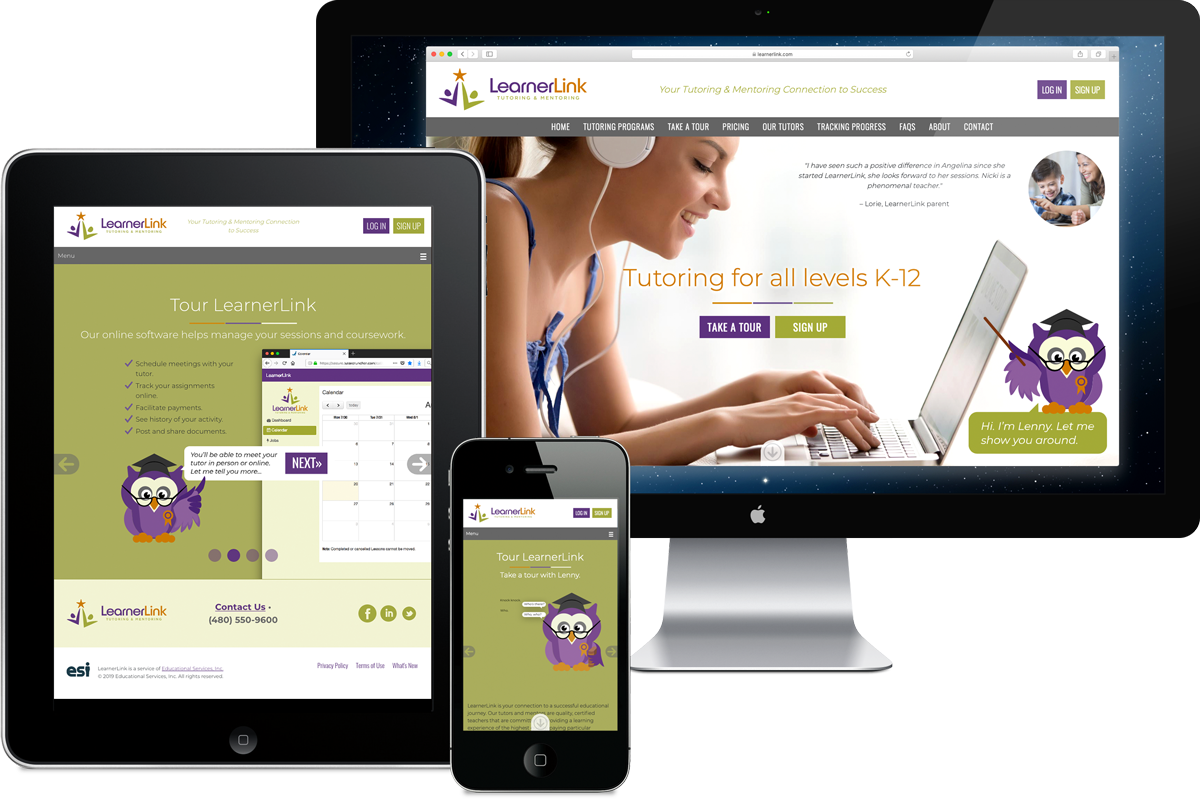 LearnerLink website design, Phoenix, Arizona