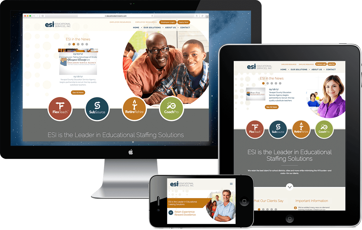 Educational Services website design Arizona