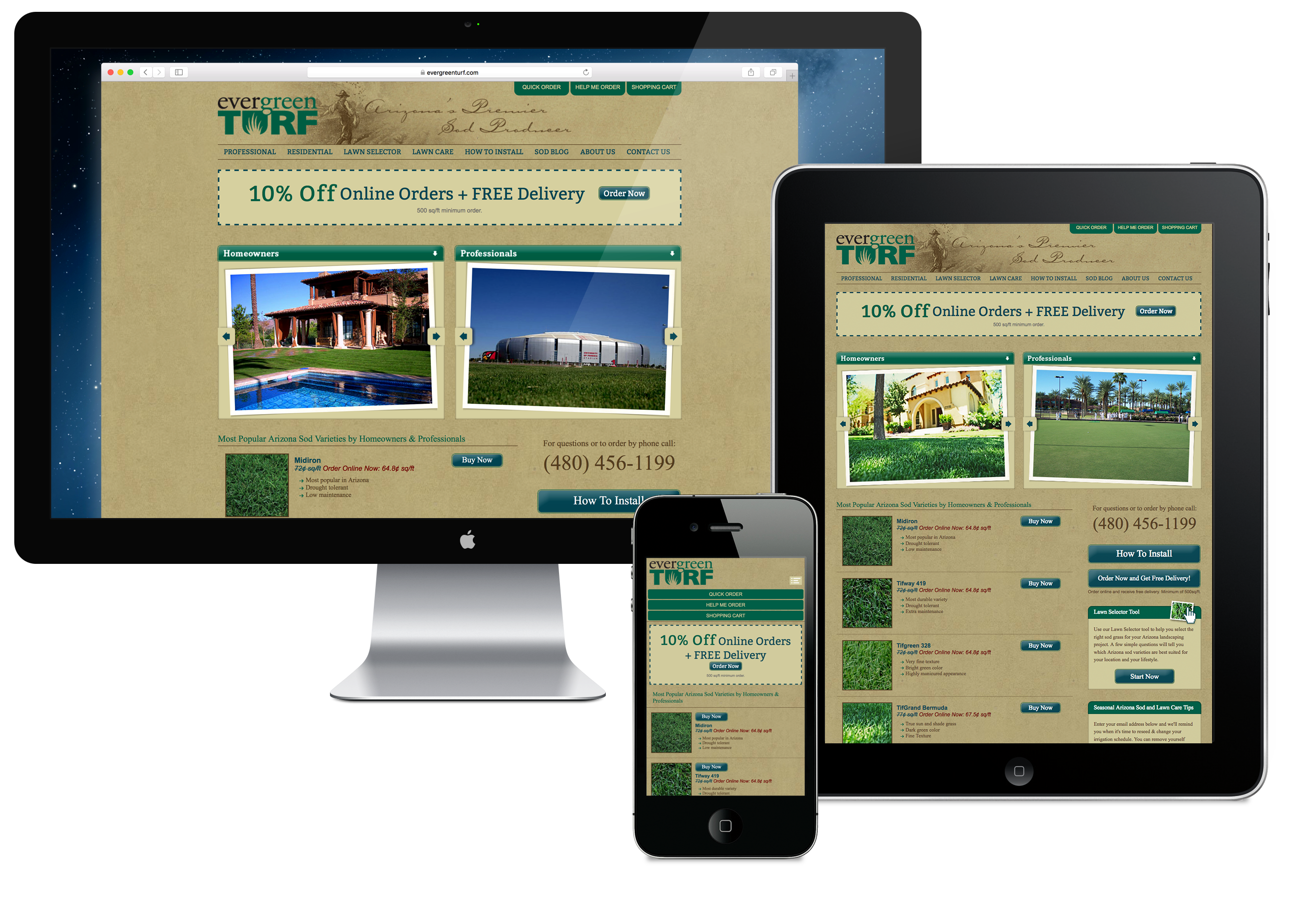 Evergreen Turf Website Design