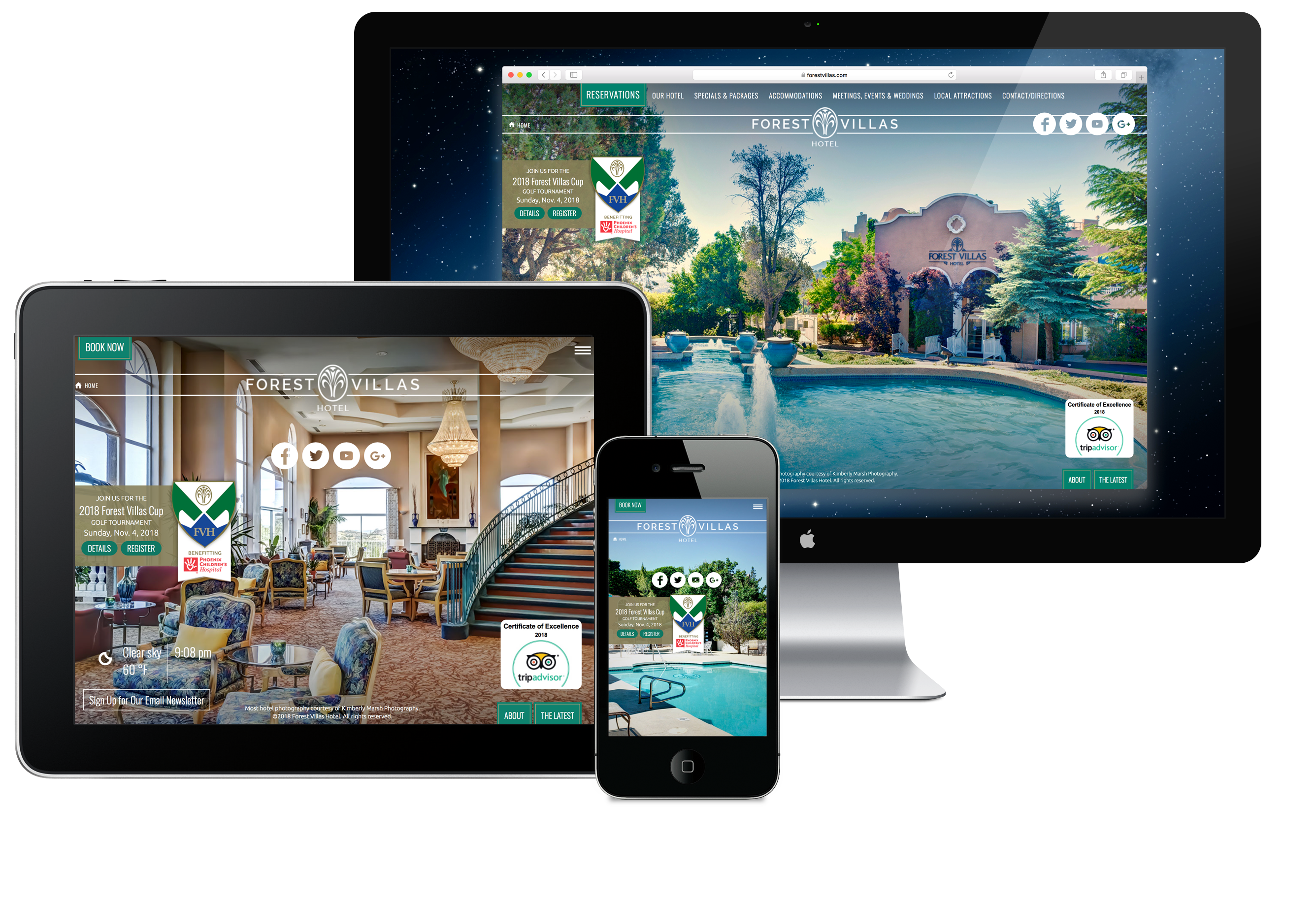 Forest Villas website design