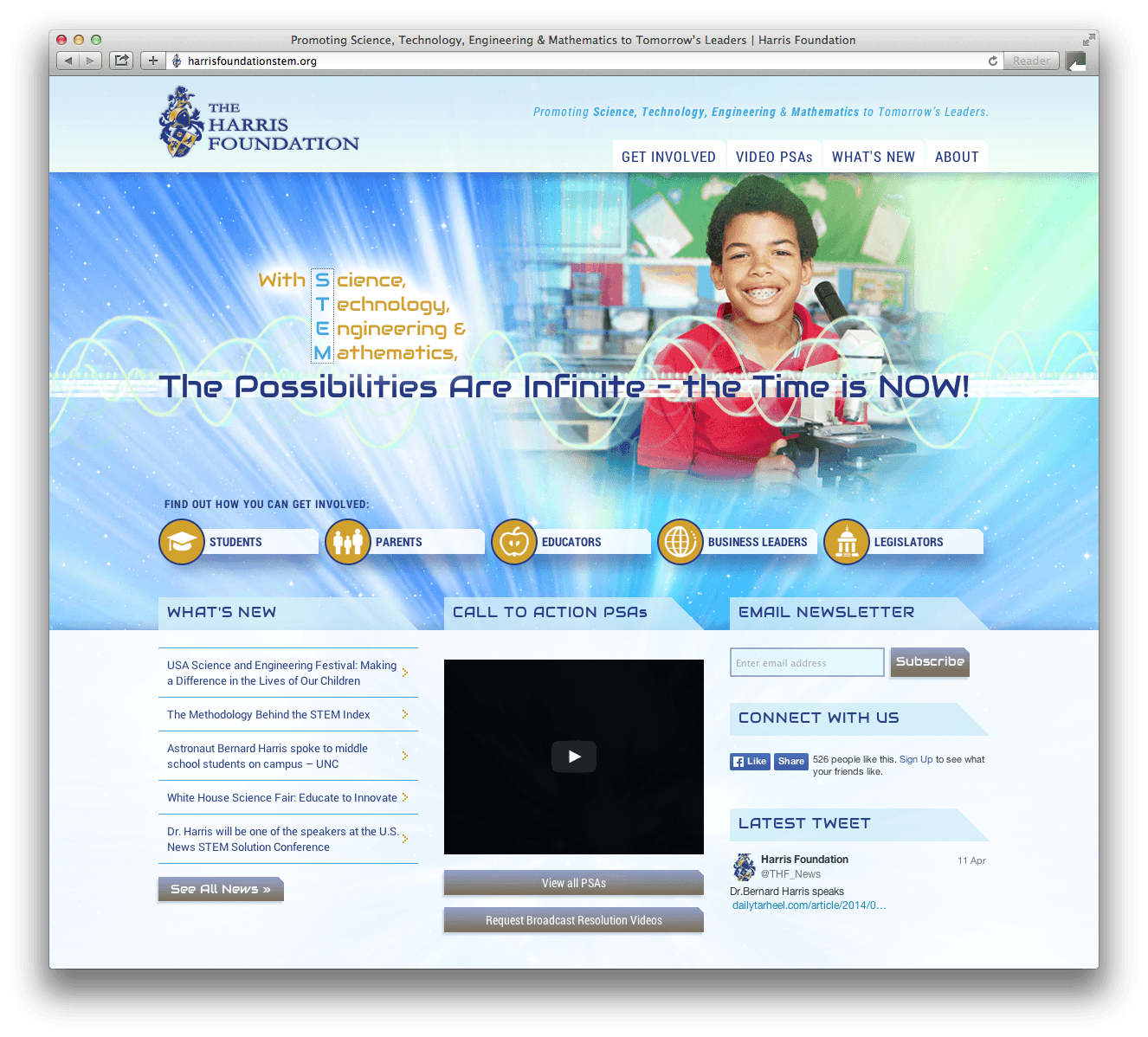 Harris Foundation STEM website design