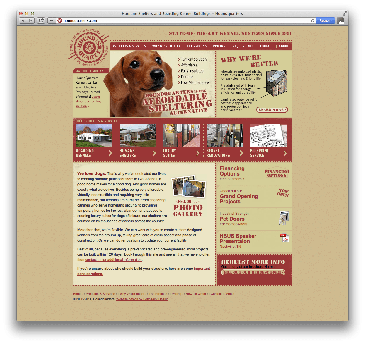 Houndquarters Website Design