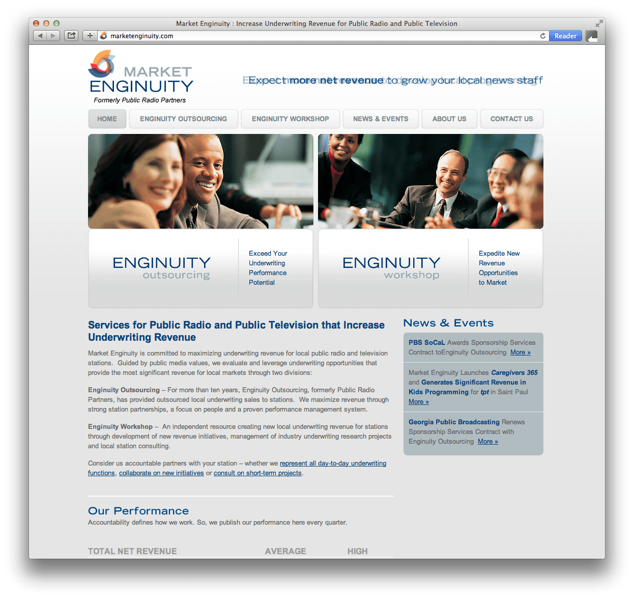 Market Enginuity Website Design