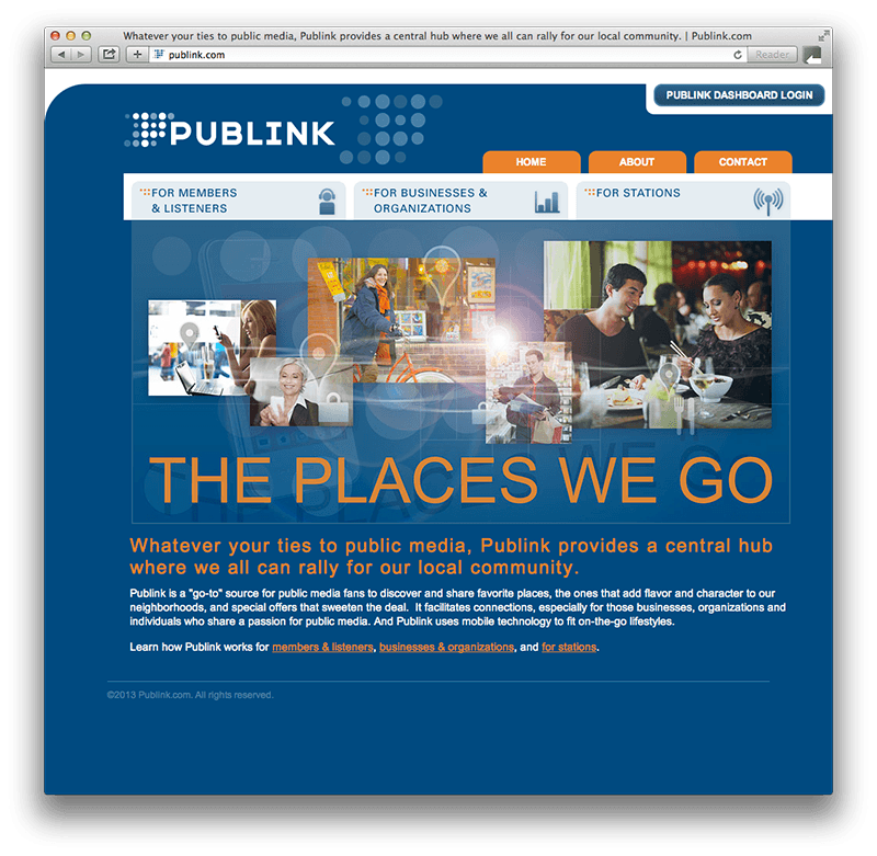 Publink Website Design